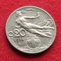 Italy 20 Centesimi 1914 KM# 44  Italia Italie Italien Italiana - Italia