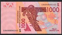 W.A.S. GUINEA BISSAU P915Sr 1000 FRANCS (20)18 Signature 43 UNCOMMON DATE ! 2018 UNC. - Guinea–Bissau