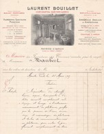 98000 Monaco Laurent Bouillet Plomberie Et Sanitaire  Pour Maubert 1909 - Factures & Documents Commerciaux