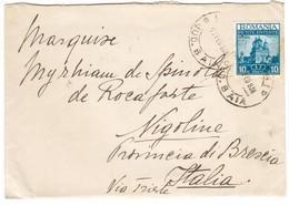IZ33   Romania 1938 Cover To Nigoline Italy - Briefe U. Dokumente