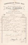 98000 Monaco Paul Fissore Réparation Serruries Pour Maubert 1901 - Factures & Documents Commerciaux