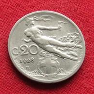 Italy 20 Centesimi 1908 KM# 44  Italia Italie Italien Italiana - Italia