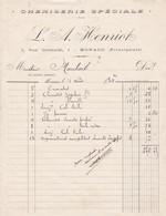 98000 Monaco Chemiserie Henriot   Pour Maubert 1903 - Factures & Documents Commerciaux