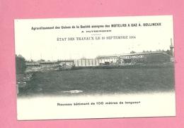 C.P. Huizingen : Agrandissement Des Usines S.A. MOTEURS à GAZ : Nouveau Bâtiment 100 M :  Etat Des  Travaux 10.09.1904 - Beersel