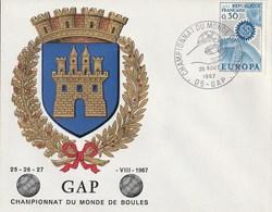 Gap 1967 Europa Championnat Du Monde De Boules Pétanque - Pétanque
