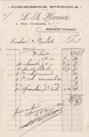 98000 Monaco Chemiserie Henriot  Facturettes  Pour Maubert 1907 - Factures & Documents Commerciaux