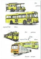 Calendrier. Transports Intercommunaux De Bruxelles. Tram. Bus. Métro. 1973. - Calendriers