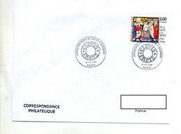 Lettre Cachet Paris Expo De Clovis à Dagobert - Storia Postale