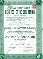 CHARBONNAGES De GIVES Et De BEN RÉUNIS - Mines