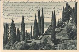 Cartolina Viaggiata 1937 Lago Di Garda Barbarano Di Salò Parco Palazzo Martinengo - Brescia