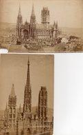 2 Photos Anciennes (sans Carton) - Rouen - Eglise Saint Ouen & La Cathédeale (dim 18 X12 Cm) - Antiche (ante 1900)
