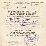 Ardennes. 1942. Bon D'achat D'un Maillot De Foot-ball Ou De Cyclisme - 1939-45