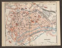 CARTE PLAN 1931 CHARTRES - CASERNES RAPP NANSOUTY MARCHÉS Aux CHEVAUX Et MOUTONS CAISSE D'ÉPARGNE - Topographical Maps