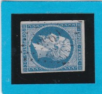 N° 14A  - PC  2961   ST-AGREVE   ( 06 )  ARDECHE  - REF 14112  - IND 8 - COTE 45€ +variété - 1853-1860 Napoléon III.