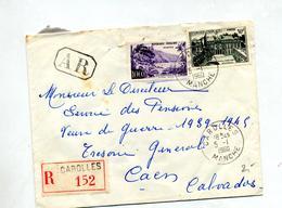 Lettre Recommandée Carolles Sur Elysee Guadeloupe - Storia Postale