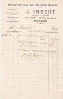 98000 Monaco J. Imbert  Marbres Et Ardoises  Pour Maubert 1905 - Autres