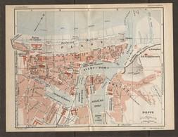 CARTE PLAN 1931 DIEPPE - BAINS PUBLICS CASINO BASSIN Du CANADA SÉMAPHORE CALVAIRE GARE MARITIME - Topographische Kaarten