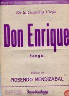 DON ENRIQUE TANGO PARA PIANO DE ROSENDO MENDIZABAL PARTITURA - NTVG. - Partituras