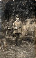 Carte Photo Originale Guerre 1914/18 Soldat Poilu Allemand Adolf & Correpondance, Carte & Légende à Stenay 55700 - 1916 - War, Military