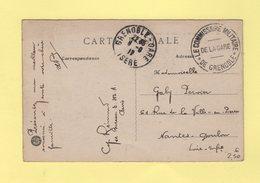 Le Commissaire Militaire De La Gare De Grenoble - 1917 - Guerra De 1914-18