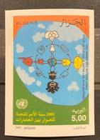 ALGERIA ALGERIE 2001 - Imperf/non Dentelé DIALOGUE DIALOG DIALOGO AMONG CIVILIZATIONS CIVILISATIONS JOINT ISSUE MNH - Emissioni Congiunte