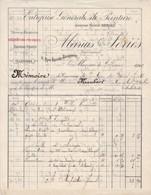98000 Monaco Marius Séirés  Entreprise De Peinture Pour  Maubert 1902 - Factures & Documents Commerciaux