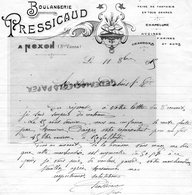 87- NEXON- RARE LETTRE MANUSCRITE  SIGNEE  PRESSICAUD- BOULANGER-BOULANGERIE-1915 - Old Professions
