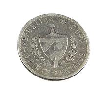 20 Centavos - Cuba - Argent - 1920 -, TB + - - Cuba