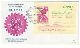 RWANDA1967 - FRANCOBOLLI EUROPA CEPT - NAPOLI NAPLES 1967 - FDC - Rwanda