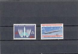 Nueva Hebrides Nº 278 Al 279 - Leyenda Inglesa