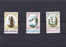 Nueva Hebrides Nº 289 Al 291 - Leyenda Inglesa