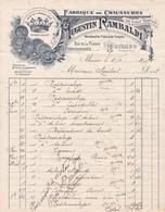 98000 Monaco Augustin Rambaldi Fabrique De Chaussures  Pour  Maubert 1907 - Factures & Documents Commerciaux
