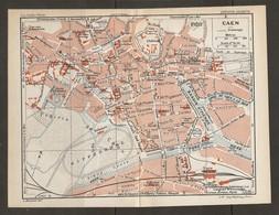 CARTE PLAN 1931 CAEN - HIPPODROME GARE De L'ÉTAT TRAM CASERNE CHATEAU MANOIR Des GENS D'ARMES STADE - Cartes Topographiques