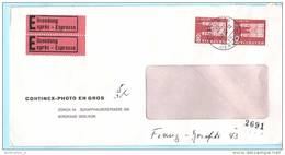 SCHWEIZ SUISSE Express Brief Cover Lettre - Zürich 50 - 05.03.62 - 708 Bauwerke (2 Scan)(14467) - Schweiz