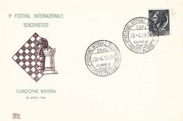 GARDONE RIVIERA - V° FESTIVAL INTERNAZIONALE SCACCHISTICO 28/4/1956 - SCACCHI / CHESS / AJEDREZ / ECHECS - Scacchi