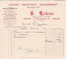 98000 Monaco B. Robini Miroiterie Pour  Maubert 1902 - Factures & Documents Commerciaux