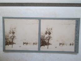 La Corvée De Neige Au 11e Chasseurs 3 Fev. 1912 - Photos Stéréoscopiques