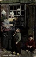 Cp Edam Volendam Nordholland Niederlande, Frau, Kinder, Niederländische Volkstrachten - Volendam