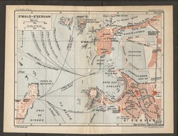 CARTE PLAN 1931 SAINT MALO SAINT SERVAN - ÉCLUSE Du NAYE GRAND BÉ PETIT BÉ RÉSERVOIR INTÉRIEUR ROCABEY - Mapas Topográficas