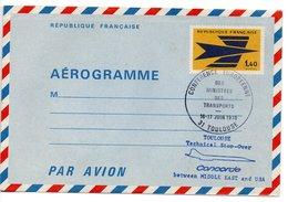 Aérogramme  / Concorde / Toulouse / 16-17 Juin 1976 - Entiers Postaux