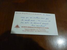 2 CARTES DE VOEUX   LA SOCIETE GENERALE DE BANQUES EN GUINEE  C. SOULE CONACRY - Faire-part
