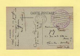Commission Militaire - Gare De Paris Orsay - 1-10-1917 - Guerra De 1914-18