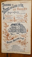 PUBLICITE  LE FAOUET  GILLES PHILIPPE  TOURING HOTEL DU LION D'OR FORMAT PLIE 15 X 8.50 CM - Publicités