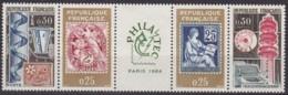 "Frankreich, 1964,  1467/70, MNH **,  Ausstellung ""Philatec"", Paris - France"