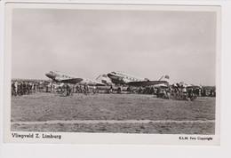 Vintage Rppc KLM K.L.M Royal Dutch Airlines Douglas Dc-3 @ Airport Vliegveld Zuid Limburg - 1919-1938: Fra Le Due Guerre