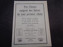 "Origineel Knipsel ( 1887 ) Tijdschrift "" Brasseur "" Reclame Publicité Bière Bier  Brouwerij Brasserie Braine - L' Alleud - Publicidad"