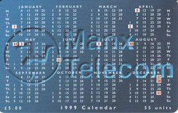 MAN-141 TARJETA DE LA ISLA DE MAN DE UN CALENDARIO DEL AÑO 1999 - Isla De Man