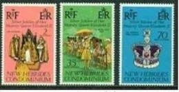 "-New Hebrides-1977-""Silver Jubilee"" (*) - English Legend"
