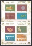 Serbie Et Monténégro CEPT 2005 Yvertn° Bloc 60-61 Non Dentelé *** MNH Cote 18 € Cinquantenaire Cept Europa - Europa-CEPT