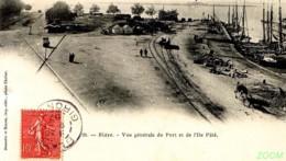 33 BLAYE - CPA GP DND Voyagée Timbrée RR  Vue Générale Du Port Et De L'île Pâté -N°26 BRUNETTE Et SIMON Imp, Phot CHABOT - Blaye